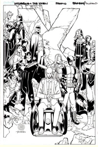 X-Men Regenesis #1 cover art (Original) (Signed)