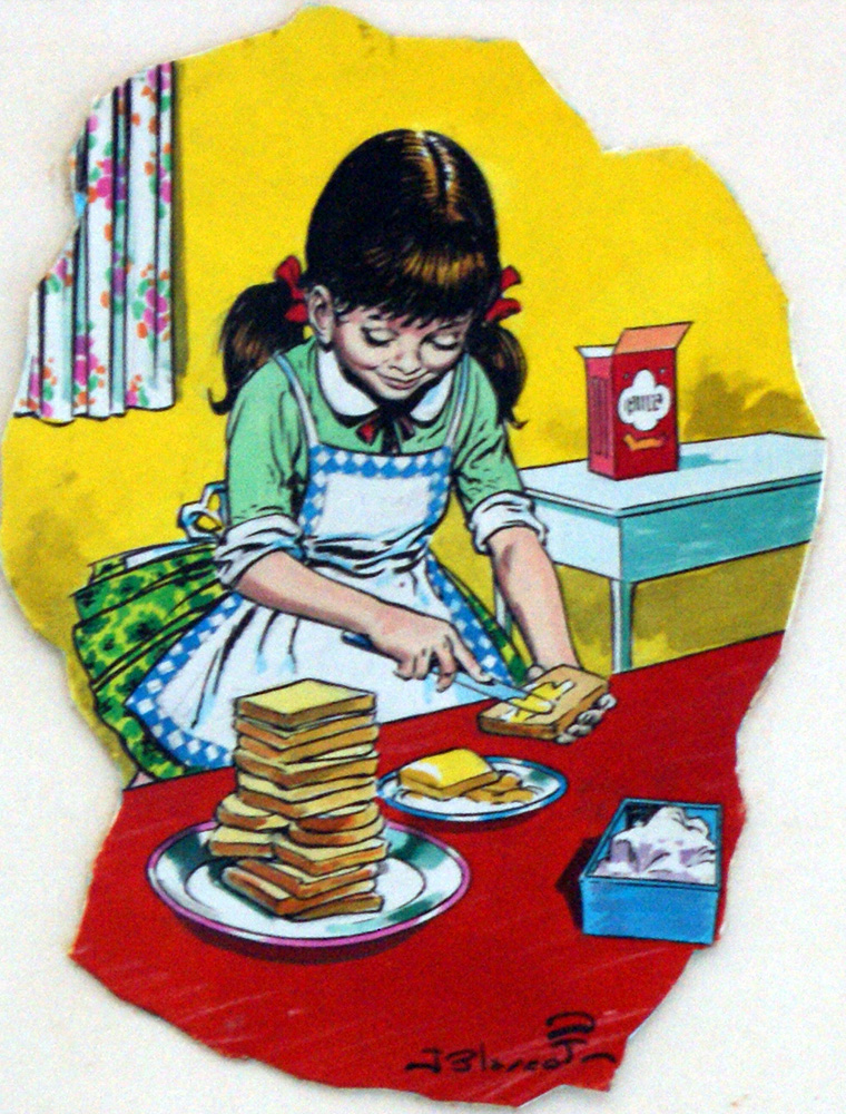 Making Sandwiches (Original) (Signed) by Jesus Blasco at The Book ...: www.illustrationartgallery.com/acatalog/info-BlascoButties.html