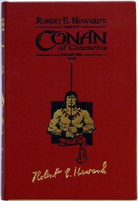 Complete Conan of Cimmeria  Volume 2 (1934)  Leatherbound Ultra Signed Limited Edition (copy #1)