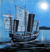 Chinese Junk at Night (Original)