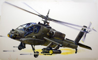 Boeing Apache AH-64 attack helicopter (Original) (Signed)