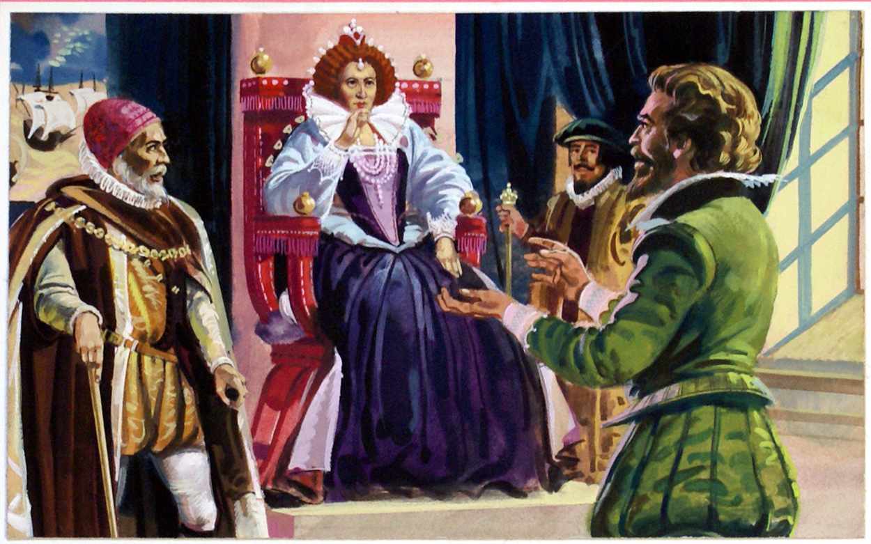 sir francis drake and queen elizabeth relationship