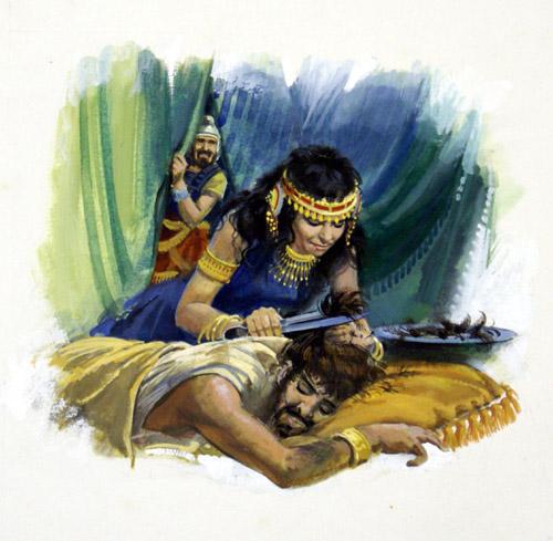Samson and Delilah (Original). (Ref: HowatSam). Artist: Andrew Howat