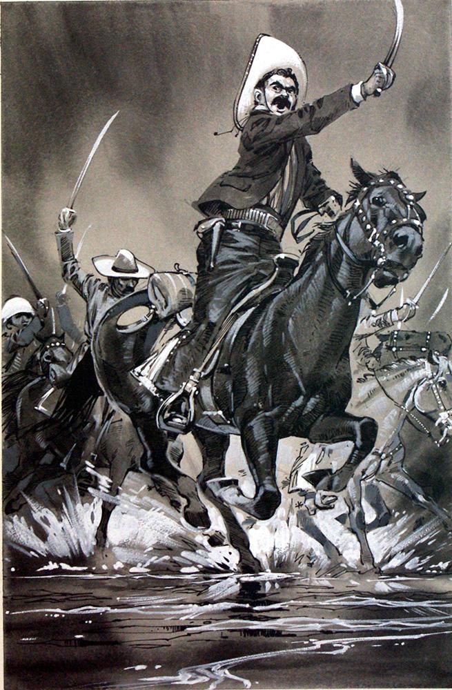 Pancho Villa On Horse Drawings