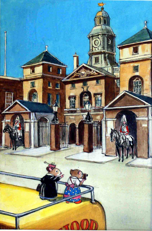 katie country mouse goes to london horse guards parade by philip mendoza at the illustration. Black Bedroom Furniture Sets. Home Design Ideas