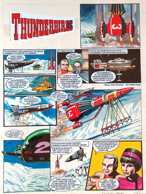 Thunderbirds iceberg original art by keith page archive