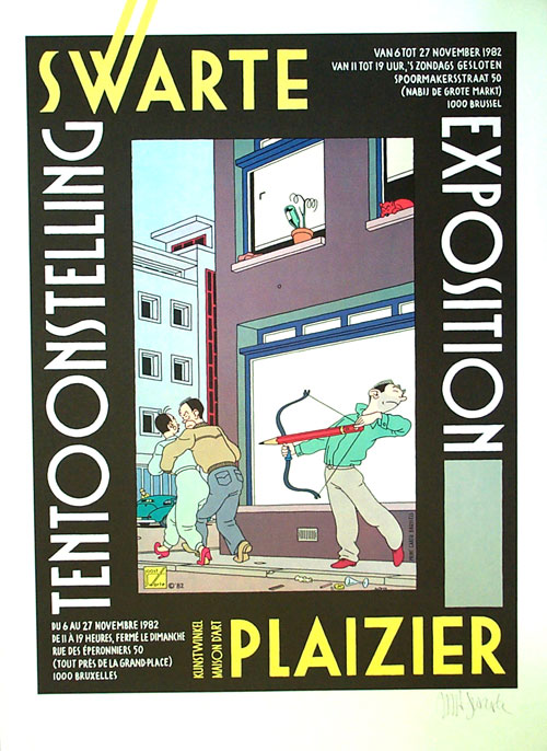 Exposition Plaizier, Bruxelles 1982 (Imprimer) (Signé)