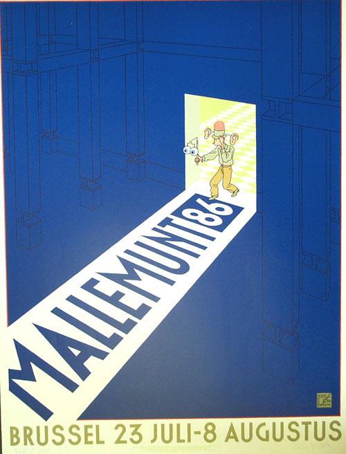 Affiche Exposition, Mallemunt 86 (Imprimer)