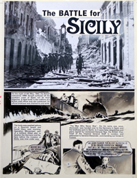 True War 3 page 3: Sicily (and Adolf Hitler) (Original)